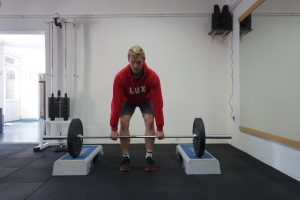 Elevated deadlift